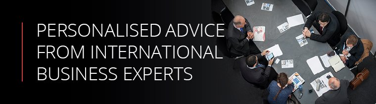 Personalised advice from international business experts